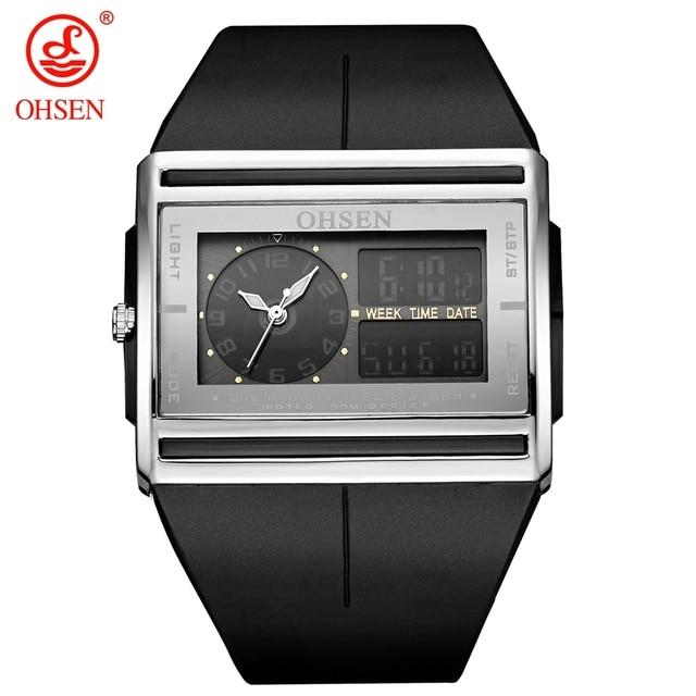 fa061631bd3 Relogio Masculino Analog Digital Watch Men LCD Back light OHSEN Brand  Waterproof Man Sport Watch Quartz Fashion Wristwatch Clock