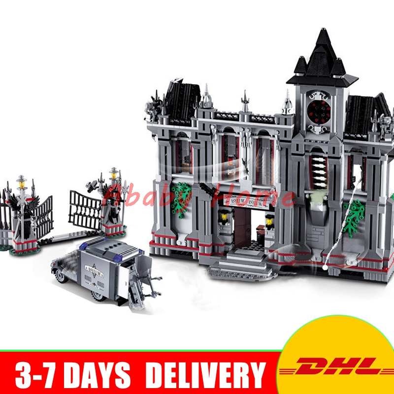 цены  IN Stock DHL Decool 7124 1619 pcs Super Heroes series the Batman Arkham Asylum Breakout Brick model building blocks 10937