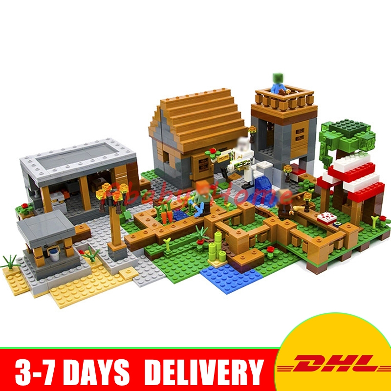 DHL Lepin 18010 1106pcs The Village My World mini Education Building Blocks Blocks Toys For Children Gifts Clone 79288 wange mechanical application of the crown gear model building blocks for children the pulley scientific learning education toys