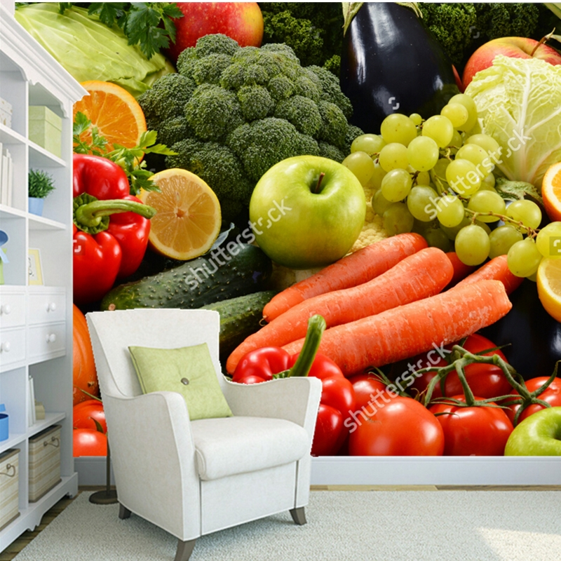 Fruit wallpaper,organic vegetables,3D modern photo mural for the living room restaurant shop background wall silk wallpaper 2m inflatable tomato balloon for advertisement other vegetables and fruit shapes