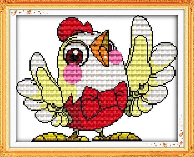 Joy Sunday Cartoon Style Loud Singing Cross Stitch Knitting Pattern