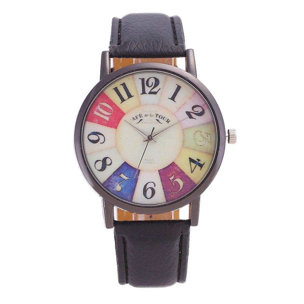 New Graffiti Pattern Leather Band Analog Quartz Vogue Wrist Watches Drop shipping fabulous 2016 quicksand pattern leather band analog quartz vogue wrist watches 11 23