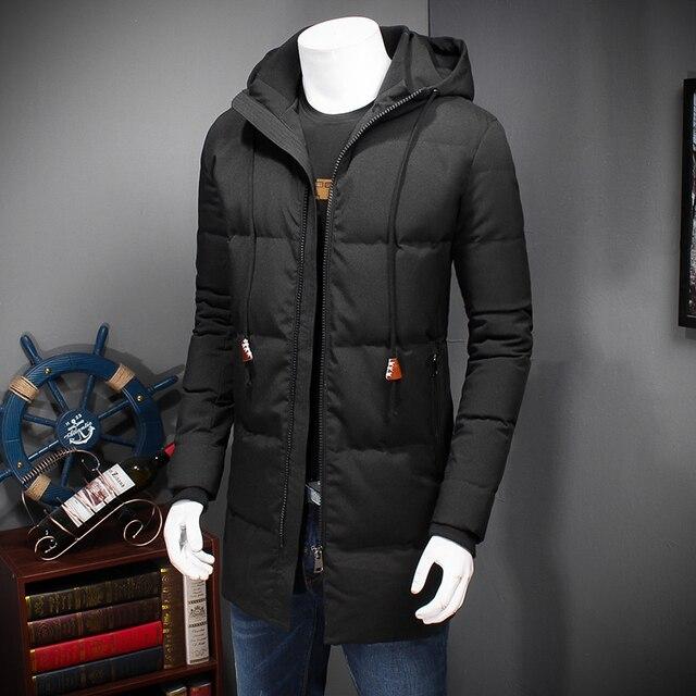 8XL7XL 6XL 5XL dos homens com longa jaqueta desgaste dos homens mais casaco de inverno quente Quente quente para baixo casaco aumentar o tamanho Livre grátis