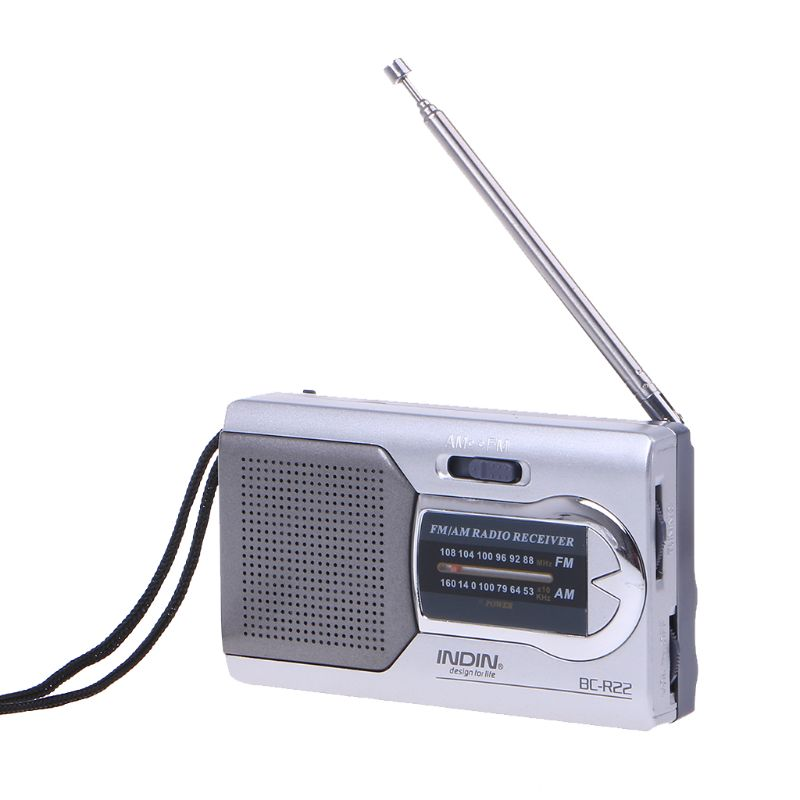 New Universal Slim AM/FM Mini Radio World Receiver Stereo Speakers Music Player