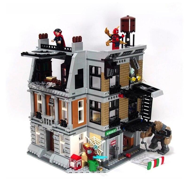 1125 pièces 07107 Super héros Sanctum Sanctorum Showdown blocs de construction assembler ensemble Compatible Legoing 76108 briques jouets - 4