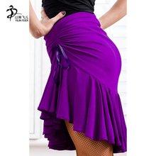 261f4016fc5d5 Baile latino falda puede Adujustable cintura Chacha Tango Mini falda de la  danza de competencia falda
