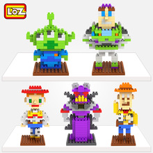LOZ Toy Story Woody Buzz lightyear Jessie Toy Model font b Action b font font b