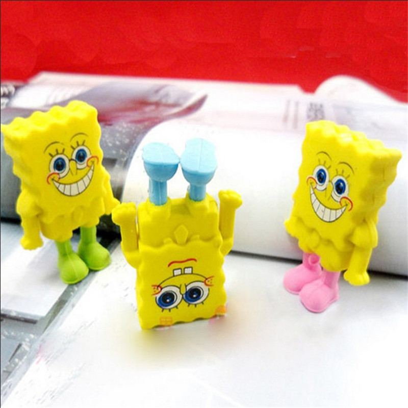DL D617 Korean Stationery Student Lovely Rubber Cartoon Style SpongeBob SquarePants Eraser Creative Gift For Children Funny