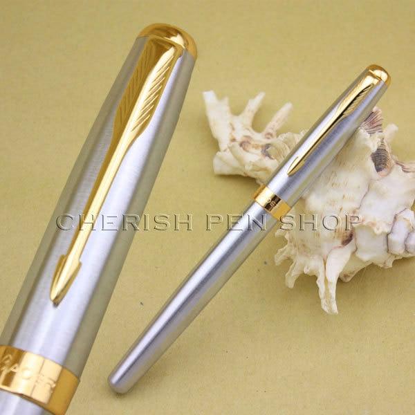 Hot-selling baoer 388 hoge kwaliteit goedkope prijs zilver en gouden glad pijl clip m penpunt inkt / merk / vulpen gratis verzending