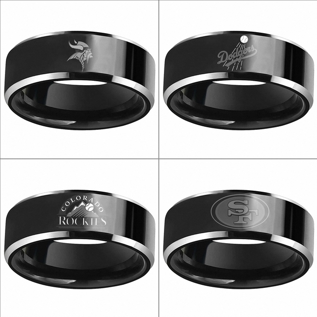 3a7c3b3d US $12.99 |Minnesota Vikings Los Angeles Dodgers Colorado Rockies Black  Carbon Fiber Tungsten Carbide Ring Mens Wedding Band Size 6 13-in Rings  from ...