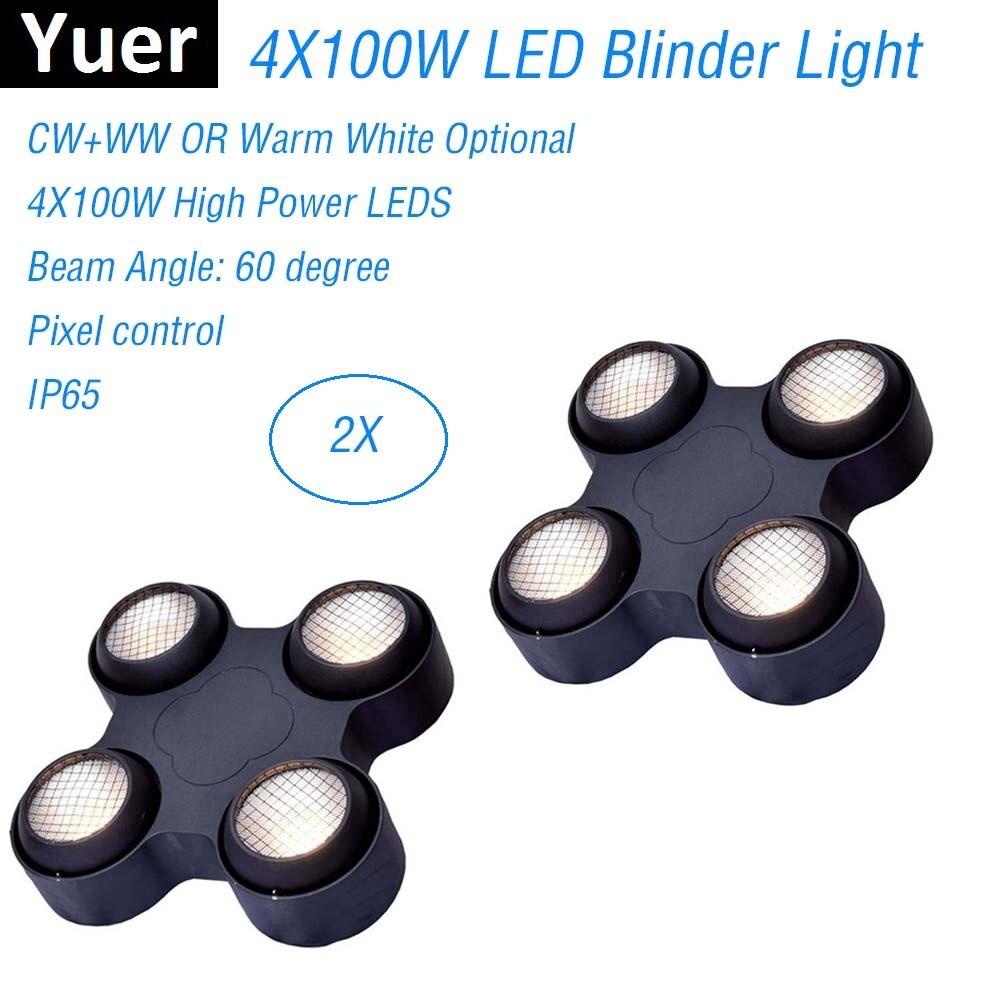 Dj équipement 4X100 W 4 yeux LED Blinder lumière COB chaud froid blanc LED haute puissance professionnel scène éclairage fête Machine discothèques
