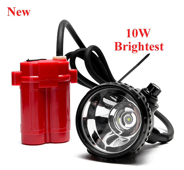 Купить с кэшбэком Newest Brightest Cree 10W Led Headlight Mining Head Lamp for Hunting Fishing head Light Free Shipping