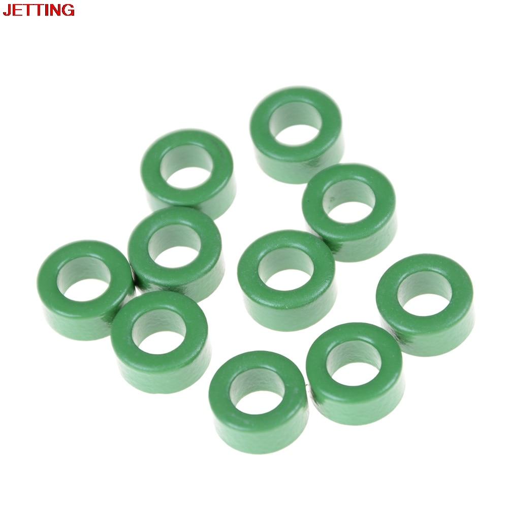 цены 10 Pcs Inductor Coils Green Toroid Ferrite Cores 10mm x 6mm x 5mm
