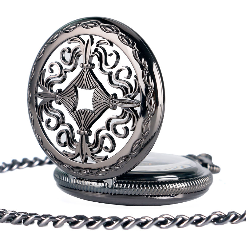 Antique Pocket Watch Hollow Chinese Knot Design With Rome Numbers Dial Self Winding Pocket Watch Gift For Men