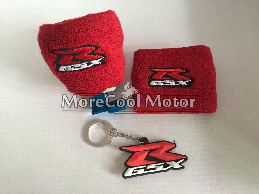 Red GSXR Motorcycle Front Brake Reservoir Sock For Suzuki GSXR 750 600 GSXR1000 All Models Oil Fluid Tank Cover Sleeve Universal aftermarket free shipping motor parts for motorcycle 1989 2007 suzuki katana 600 750 billet oil brake fluid reservoir cap chrome