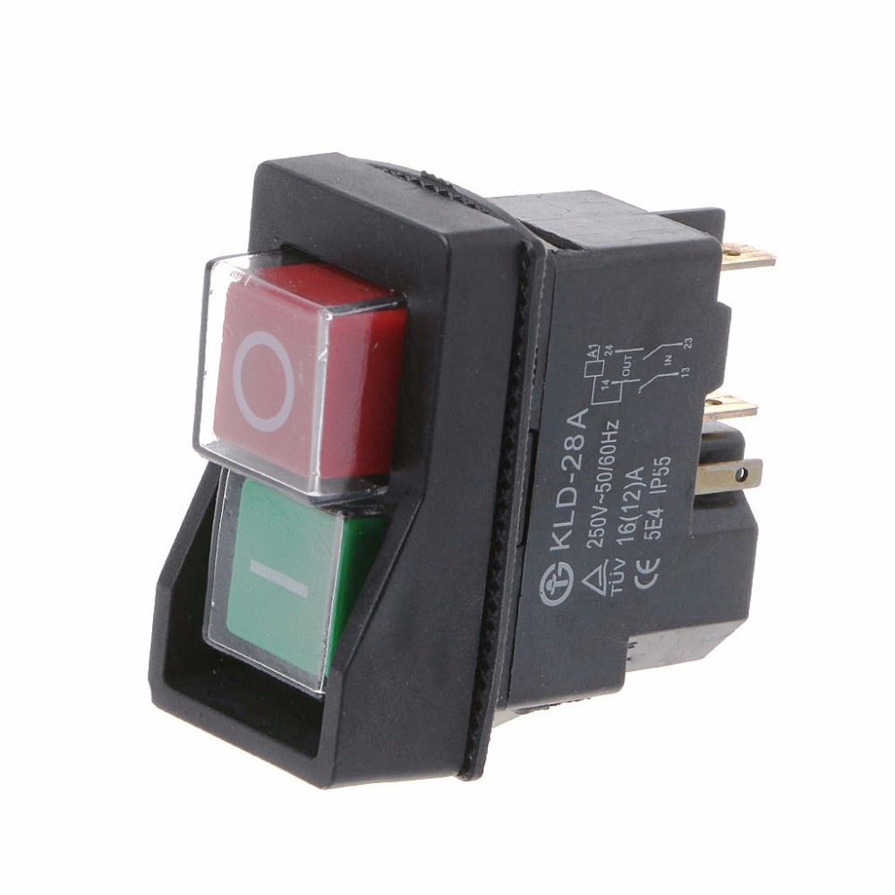 KLD-28A Waterproof Magnetic Switch Explosion-proof Pushbutton Switches 220V 18A IP55KLD-28A Waterproof Magnetic Switch Explosion-proof Pushbutton Switches 220V 18A IP55