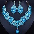 Бренд ювелирных изделий Австрийских Кристаллов стразы ожерелье и серьги Люкс свадебные ювелирные наборы