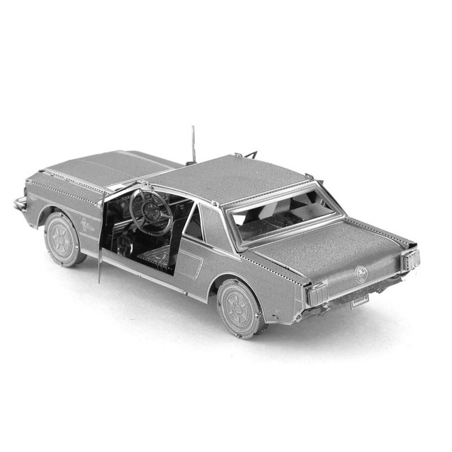 1965 Ford Mustang IQ Jigsaw Puzzle DIY Assemble Scale Model 3D Metal Puzzle Education Toys Stainless Steel Learning Kids Toys