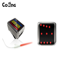 COIZNG 650nm Laser Therapy Watch For Diabetes Rhinitis Cholesterol Hypertension Cerebral Thrombosis Physiotherapy Apparatus diode 650nm laser lllt physiotherapy therapy watch for diabetes cholesterol hypertension cerebral thrombosis rhinitis treatment