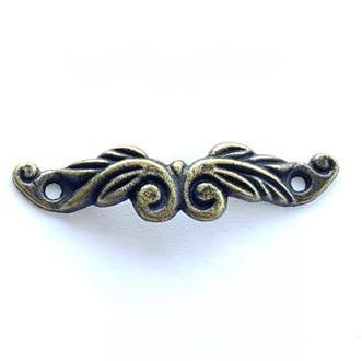 30pcs 46*11MM Small Handle Antique Bronze Vintage Mini Drawer Gift Jewellery Box Fix DIY