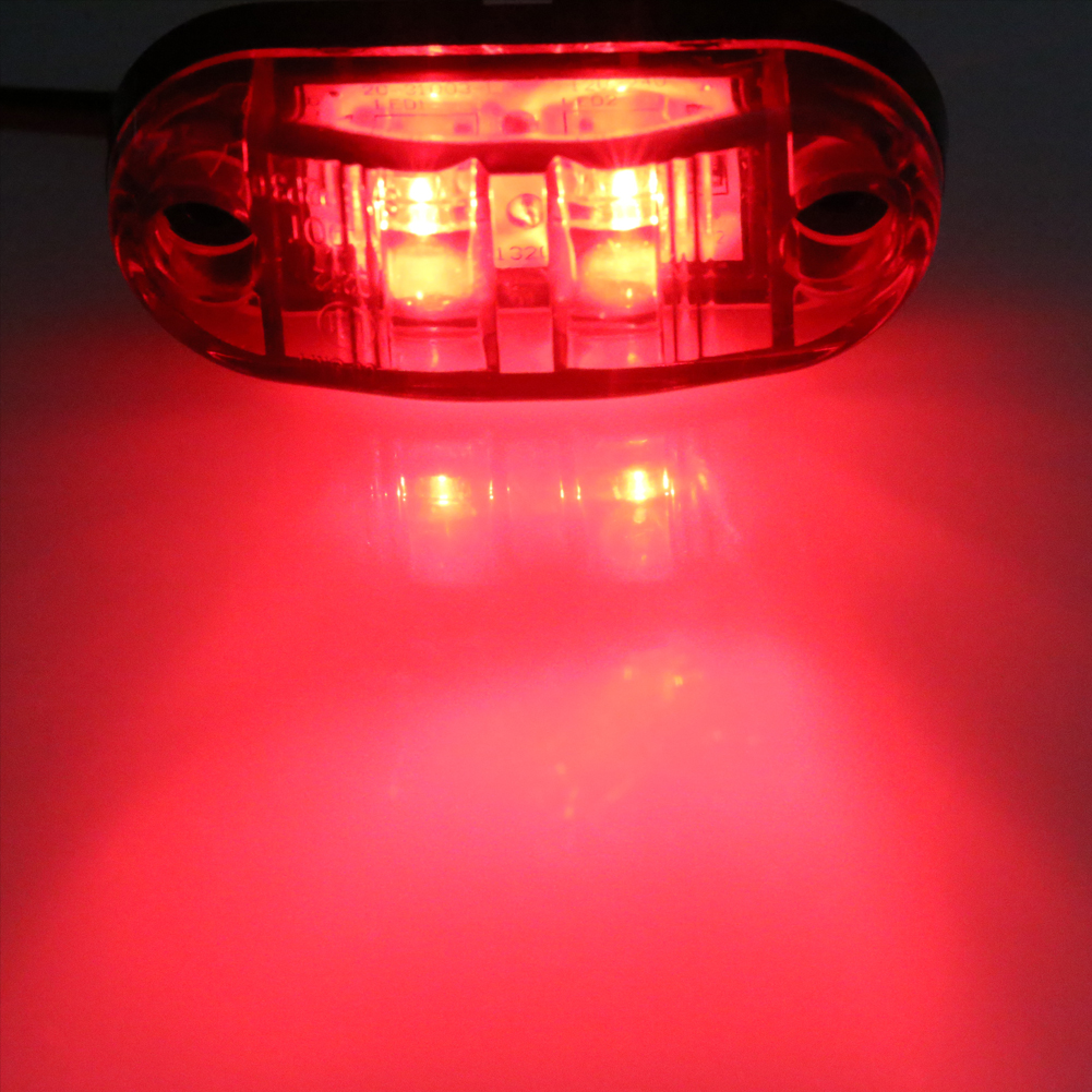 Urbanroad 10pcs/Lot 12V 24V White Car Trailer Led Side Marker Lights For Trucks Turn Signal Side Clearance Lights Tailight 9-32V