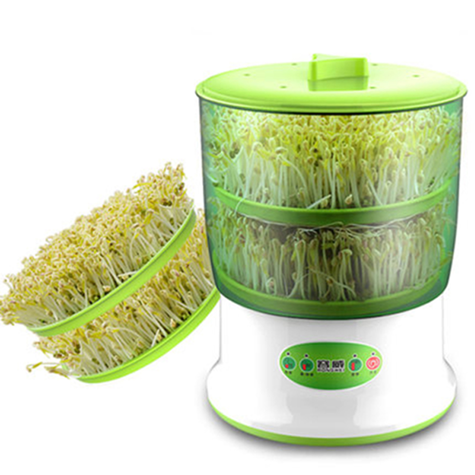 Intelligence Bean Sprouts Machine Smart Nursery Pots Seed Seedling Pots Plastic Thermostat Automatic Bean Sprouting Machine bean sprout machine germination intelligence home double layer nursery pots automatic bean sprouts machine kitchen electrical