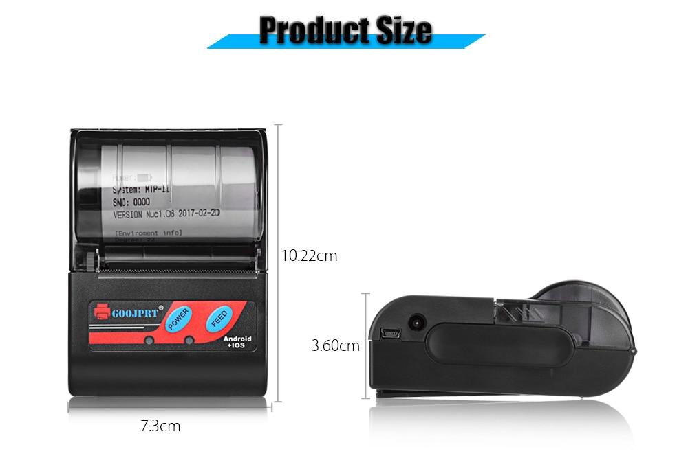 MTP 2 Bluetooth Mini wireless thermal printer portable printer (3)