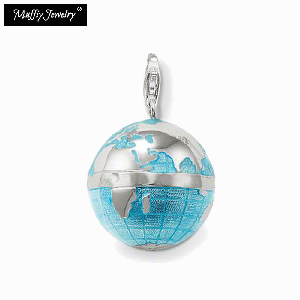 Blue Globe Pendant,Thomas Style Glam Fashion Good Jewerly For Women,2017 Ts Gift In 925 Sterling Silver,Super Deals