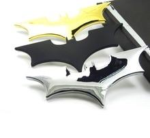 سيارة معدنية باتمان ملصقات السيارات ثلاثية الأبعاد ثلاثية الأبعاد ملصقات الزخرفية باتمان سوبرمان وسم سيارة الذيل ملصقات الجسم التصميم