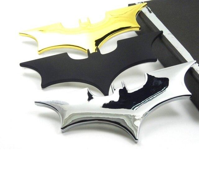 Car Metal Batman Car Stickers 3D Three dimensional Decorative Stickers Batman Superman Labeling Car Tail Body Stickers Styling