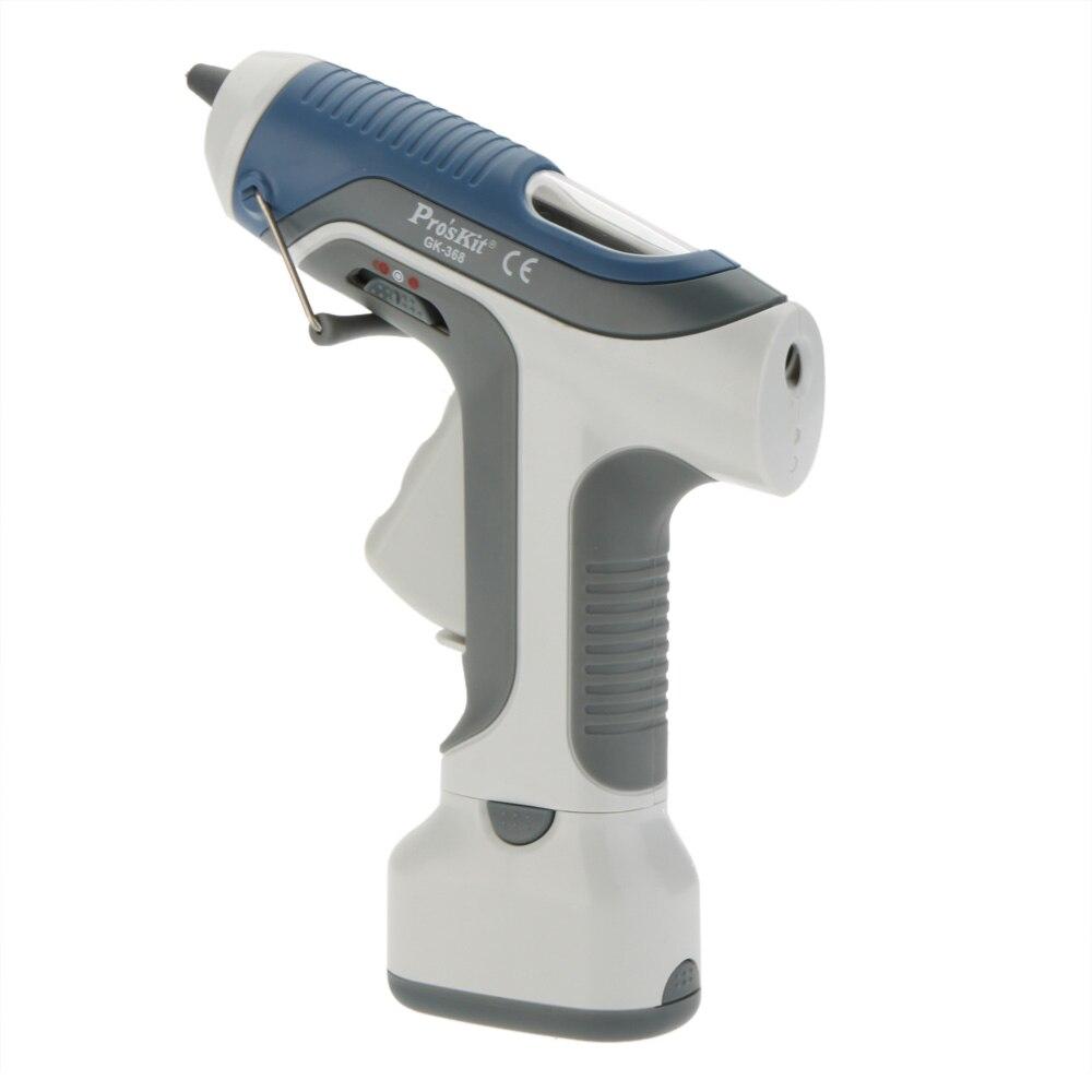 GK 368 High Quality 6V Cordless Hot Melt Glue Gun For DIY Model Living Craft With LED Lights 3pcs Sticks