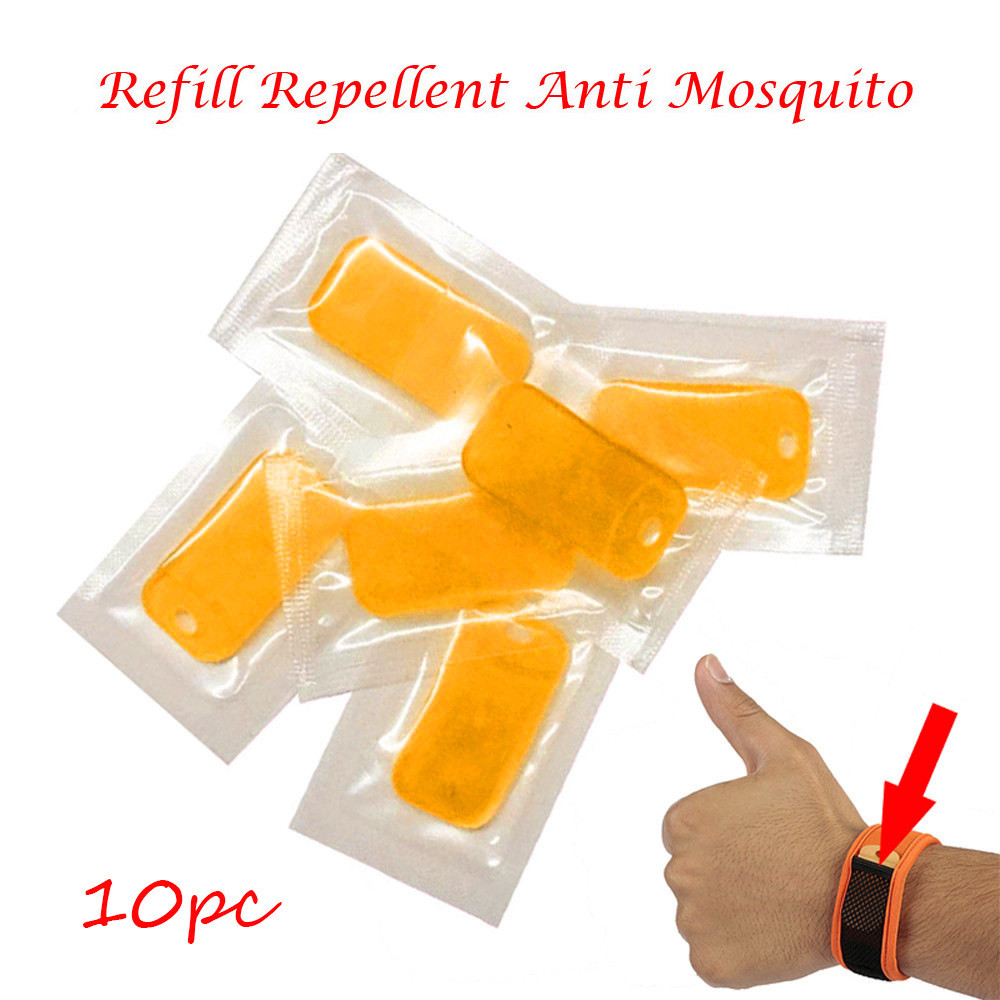 10PC Refill Repellent Anti Mosquito For Wrist Band Mosquito Bracelet Repeller Repellent Sheet Pest Control Checkpoints Fishing