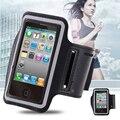 Saco à prova d' água Esporte Ginásio Correndo Arm Band Titular Pounch Caso Cinto para a apple iphone 4 4s portátil pu bolsas telemóvel cubra