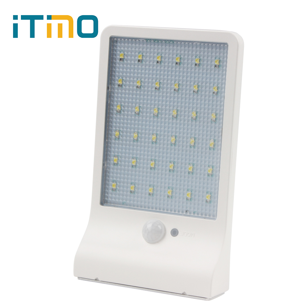 Garden Security Lamp PIR Motion Sensor Lamps Solar Power Yard Lampada 36 LED Wall Lights Street