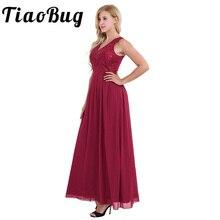 2020 النساء السيدات الشيفون أكمام فستان وصيفة الشرف مطوي الخصر طويل مطرزة الأزهار طباعة فستان حفلات الزفاف فستان حفلات