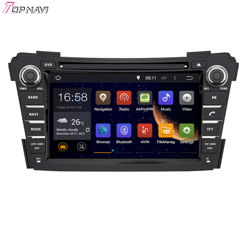 TOPNAVI 7'' Quad Core Android 6.0 Car <font><b>GPS</b></font> Navigation for <font><b>Hyundai</b></font> <font><b>i40</b></font> 2011- Autoradio Multimedia Audio Stereo image