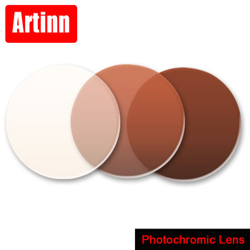 Aspheric Photochromic Lens Grey or Brown change color Optical Glasses Myopia Presbyopia Reading Eyeglasses Prescription Lenses