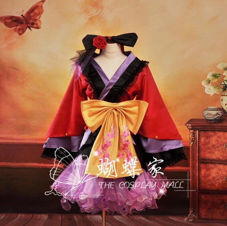 Vocaloid Project Diva2 Luka Oiran Japanese Women's Kimono Cosplay Costume ,Perfect custom for you