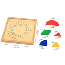 Educational Math Toys Montessori For Toddler Preschool Wooden Circular Materials Teaching Aids UA2766H