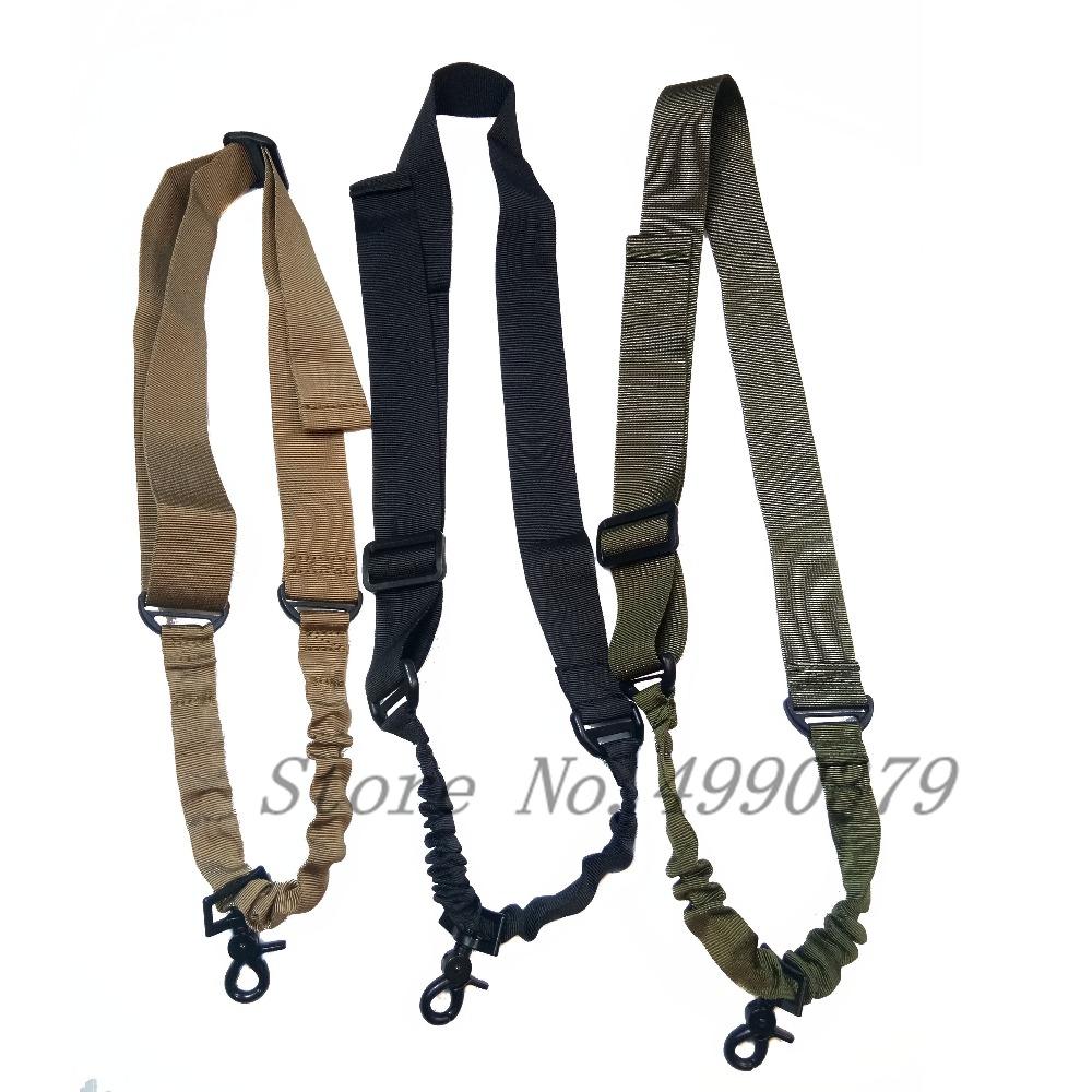 Image 2 - Tactical One Single Point Bungee Rifle Gun Sling Strap Airsoft Military Hunting System Universal Strap Heavy Duty-in Hunting Gun Accessories from Sports & Entertainment