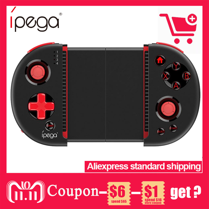 iPega PG-9087 Bluetooth Gamer Controller with telescopic phone stand for Android/IOS Smartphone/PC Practical Stretch Joystick ipega pg 9028 practical stretch bluetooth game controller gamepad joystick with stand