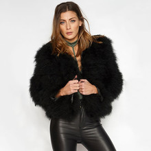 TOPFUR 2019 Black Real Fur Coat Women Fur