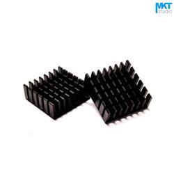 100 Шт. Черный 25 мм х 25 мм х 10 мм Чистый Алюминий Охлаждения Fin Радиатора Теплоотвод