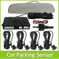 Auto Car Parking Radar System With Mirror Rearview Monitor + 4 Sensors  For Vehicle Reversing Backup Free Shipping