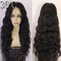 Малайзия Волос объемной волны длинные полные парики шнурка естественный цвет полный парик шнурка/фронта шнурка дешевые парики человеческих волос доступным волна парики