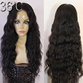 Malásia onda do corpo do Cabelo longo perucas cheias do laço cor natural peruca cheia do laço/parte dianteira do laço perucas de cabelo humano barato onda acessível perucas