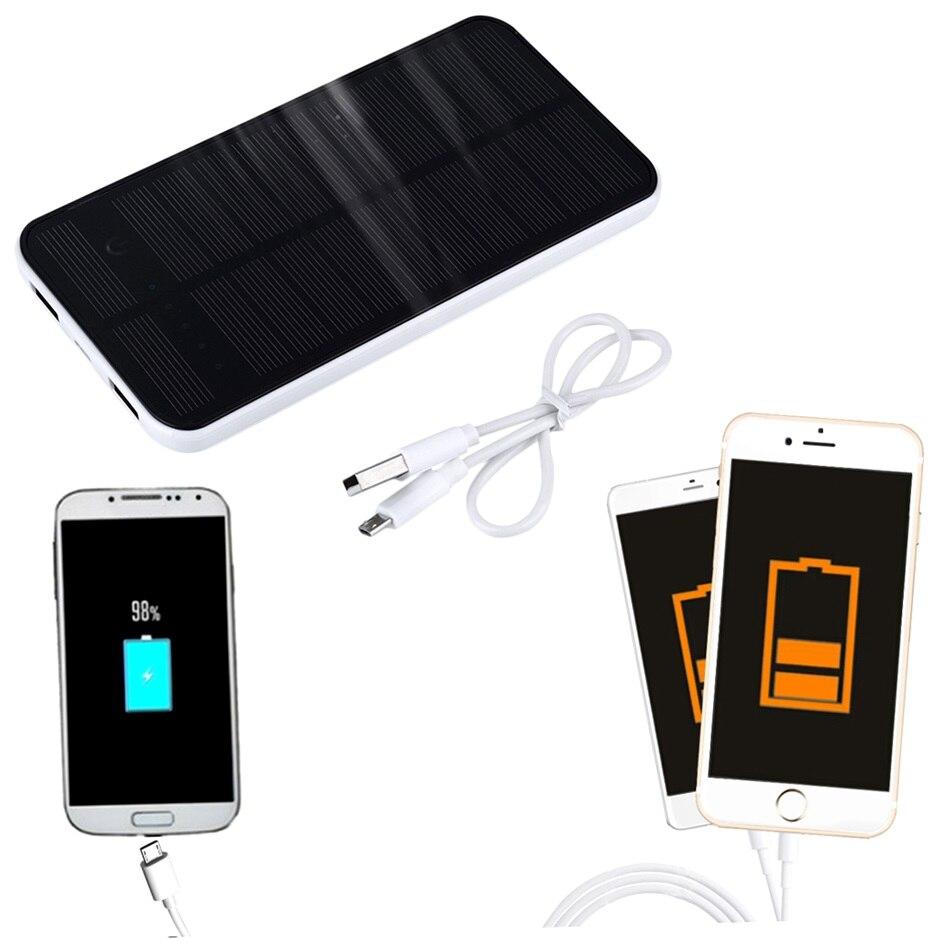 7000 mah Dual USB Banco de la Energía Solar Portátil Cargador de Batería para To
