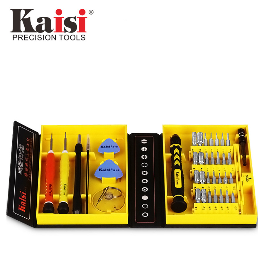 цена на Kaisi Precision 38 in 1 Screwdriver Set Multifunctional Phone Opening Repair Tool Suitable for iPhone / Phone / Laptop / PC