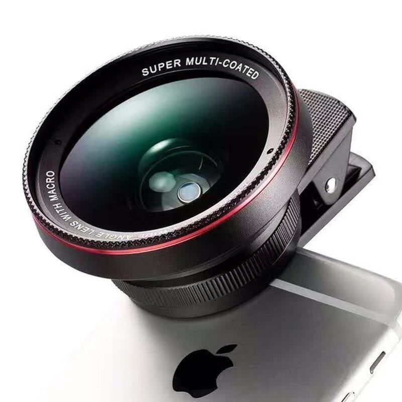 Universal Clip Lens 0.6X Large Wide Angle + Macro Large Lens Two In One Undistorted Mobile Fisheye