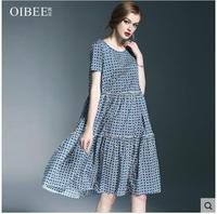 2018 Летняя женская одежда новое шикарное платье в стиле пэчворк с короткими рукавами средней длины